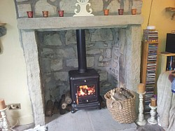 fireplace build and install wood burner
