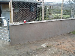 Wall rebuild and render rspca animal centre